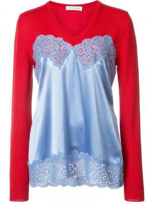 Блузка с V-образным вырезом Altuzarra. Цвет: красный