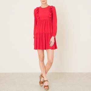 Платье с воланами LORINE PAUL AND JOE SISTER. Цвет: красный