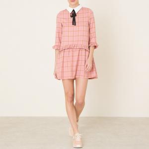 Платье в клетку SISTER JANE. Цвет: розовый
