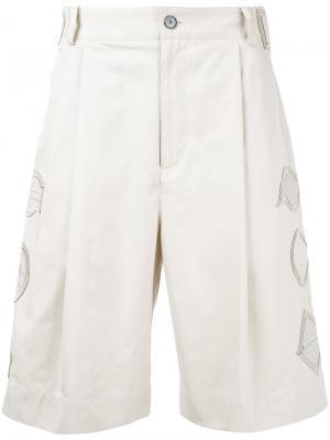 Embroidered detail shorts General Idea. Цвет: телесный