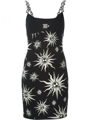 Декорированное платье Fausto Puglisi. Цвет: чёрный