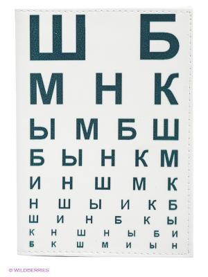 Обложка для автодокументов ШБ Mitya Veselkov. Цвет: белый, темно-зеленый