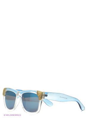 Солнцезащитные очки Vita pelle. Цвет: голубой