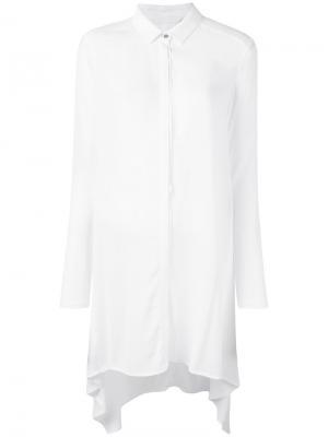 Удлиненная рубашка Demoo Parkchoonmoo. Цвет: белый