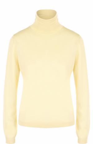 Водолазка из смеси кашемира и шелка REDVALENTINO. Цвет: желтый