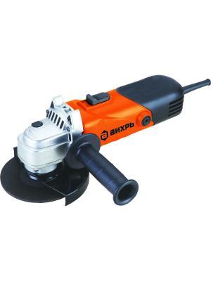 Углошлифовальная машина УШМ-125/1100 Вихрь. Цвет: черный, оранжевый