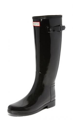 Оригинальные глянцевые сапоги Refined Hunter Boots. Цвет: голубой