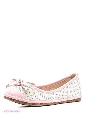 Балетки Wilmar. Цвет: белый, розовый