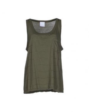 Майка U CLOTHING. Цвет: зеленый-милитари