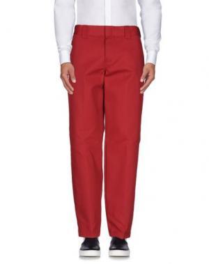Повседневные брюки DICKIES. Цвет: красно-коричневый