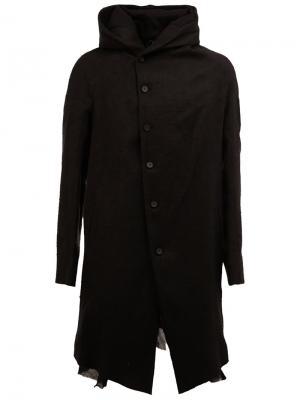 Пальто с высоким воротником Masnada. Цвет: чёрный