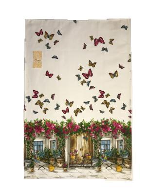 Полотенце Butterfly La Pastel. Цвет: белый, желтый