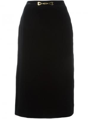 Юбка средней длины Louis Feraud Vintage. Цвет: чёрный