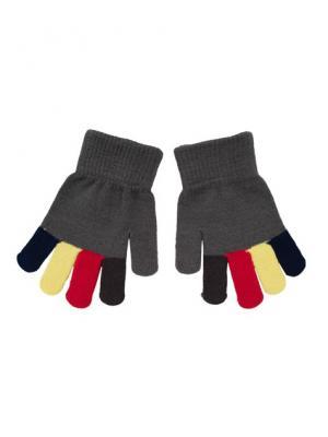 Перчатки PlayToday. Цвет: серый, красный, желтый, синий