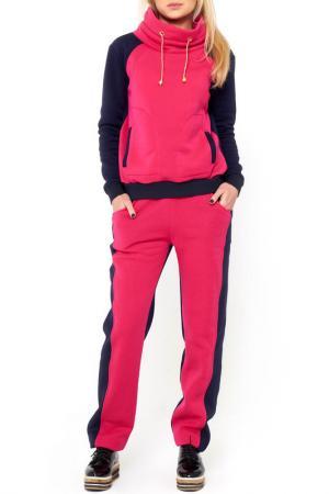Костюм: брюки, кофта Majaly. Цвет: розовый
