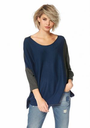 Пуловер Laura Scott. Цвет: бежевый/темно-серый