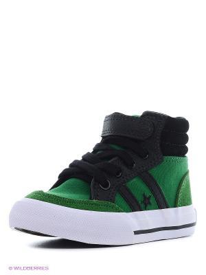 Кеды 4U. Цвет: зеленый