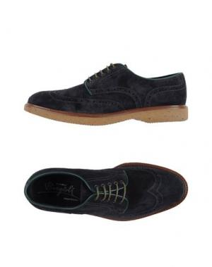 Обувь на шнурках BORGIOLI. Цвет: стальной серый