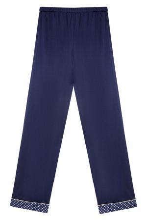 Шелковая пижама с брюками Primrose. Цвет: синий