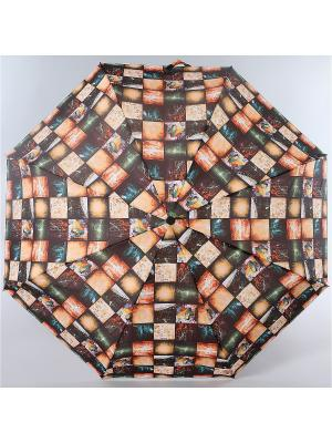 Зонт Zest. Цвет: терракотовый, бежевый, коричневый