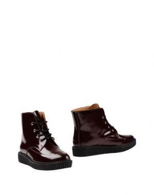 Полусапоги и высокие ботинки ATELIER MERCADAL. Цвет: красно-коричневый