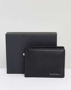Diesel Кожаный бумажник Hiresh. Цвет: черный