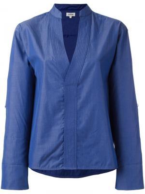 Блузка c V-образным вырезом Toteme. Цвет: синий