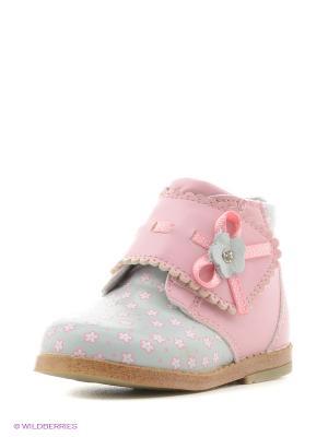 Ботинки Mursu. Цвет: розовый, серый