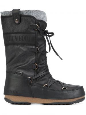 Сапоги We Monaco Mix Moon Boot. Цвет: чёрный