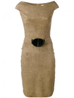 Платье с поясом Jitrois. Цвет: телесный