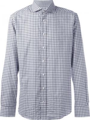 Клетчатая рубашка на пуговицах Hackett. Цвет: серый