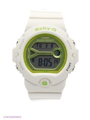 Часы Baby-G BG-6903-7E CASIO. Цвет: белый, светло-зеленый