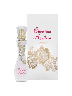 Парфюмерная вода  Christina Aguilera Woman 30 мл. Цвет: бледно-розовый, кремовый, светло-серый