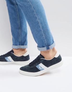 Fred Perry Темно-синие замшевые кроссовки B1. Цвет: темно-синий