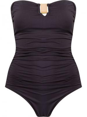 Draped swimsuit Brigitte. Цвет: чёрный