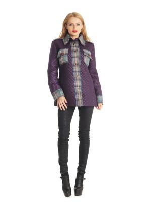 Куртка Artwizard. Цвет: зеленый, фиолетовый