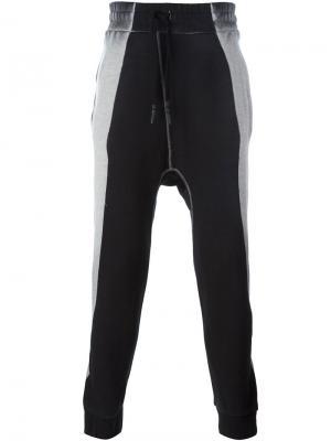 Двухцветные спортивные брюки 11 By Boris Bidjan Saberi. Цвет: чёрный