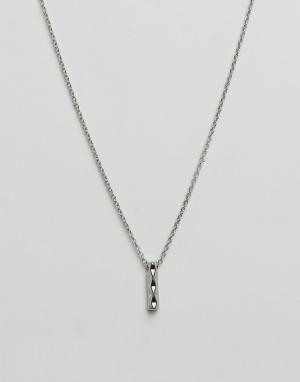 Icon Brand Ожерелье с подвеской‑планкой. Цвет: серебряный