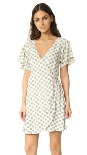 Платье-халат Oxford Cleobella. Цвет: золотой