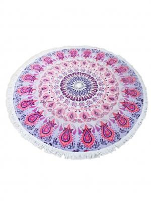 Пляжное полотенце Бали Vaseli. Цвет: синий, лиловый, розовый