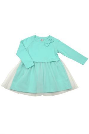 Платье MINI-MAXI. Цвет: бирюзовый