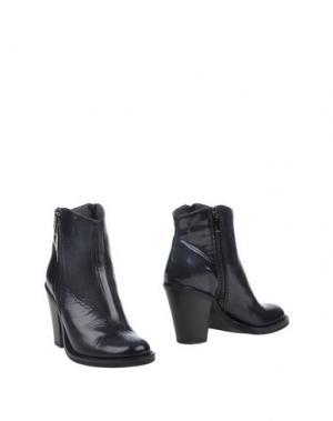 Полусапоги и высокие ботинки PROGETTO GLAM. Цвет: стальной серый