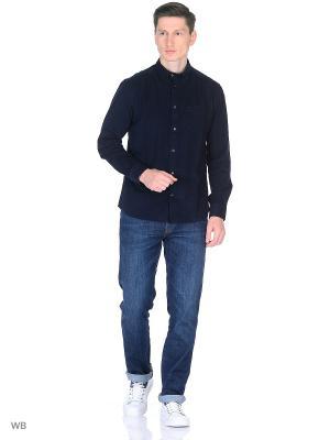 Рубашка BUTTON-DOWN Wrangler. Цвет: темно-синий