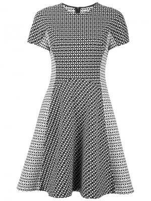 Приталенное платье с короткими рукавами Lela Rose. Цвет: чёрный
