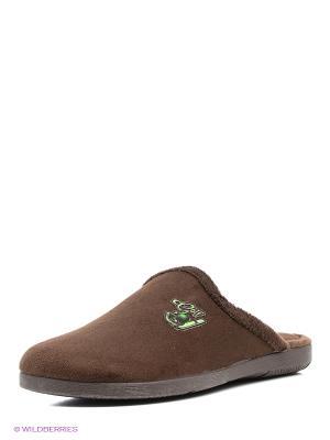 Тапочки Mon Ami. Цвет: коричневый, зеленый, кремовый