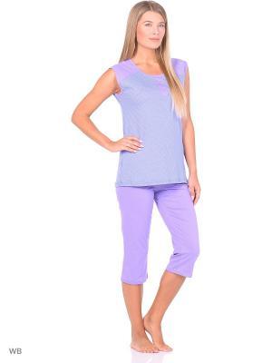 Капри с майкой (комплект одежды) Magwear. Цвет: сиреневый