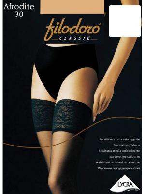 Чулки Filodoro Classic. Цвет: бежевый