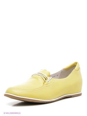 Туфли Covani. Цвет: желтый