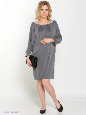 Платье UNIOSTAR. Цвет: серый, бежевый