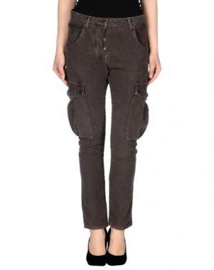 Повседневные брюки ADELE FADO. Цвет: темно-коричневый